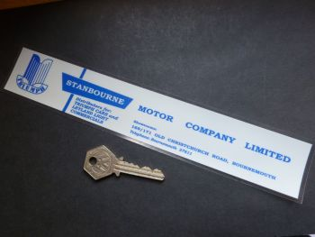 "Stanbourne Motor Company Triumph Bournemouth Dealer Sticker. 10""."
