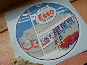 "Esso Dealer Forecourt Round Sticker. 6""."