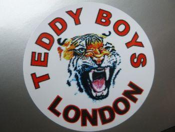 "Teddy Boys London Tiger Sticker. 2""."