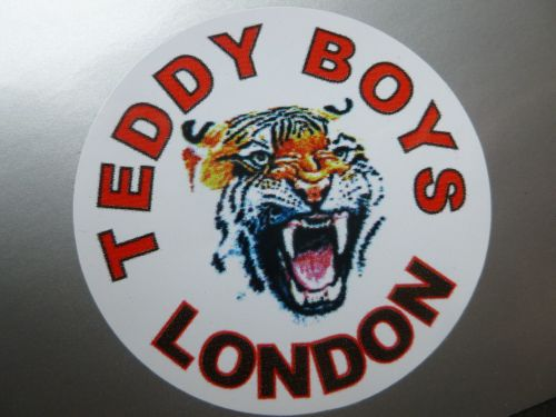 Teddy Boys London Tiger Sticker. 2