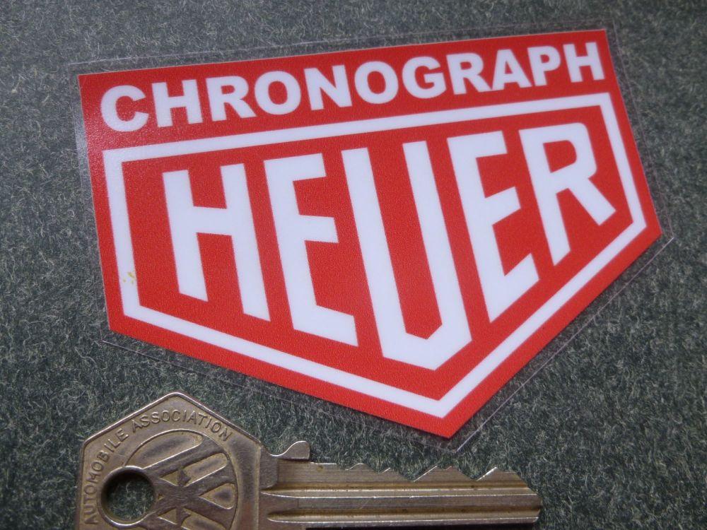 Chronograph Heuer Classic Style Window Sticker. 90mm.