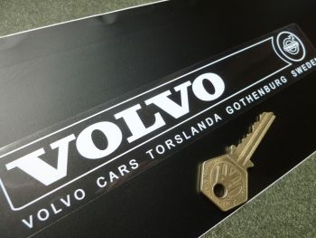 "Volvo Torslanda Gothenburg Address Window or Car Body Sticker. 8""."