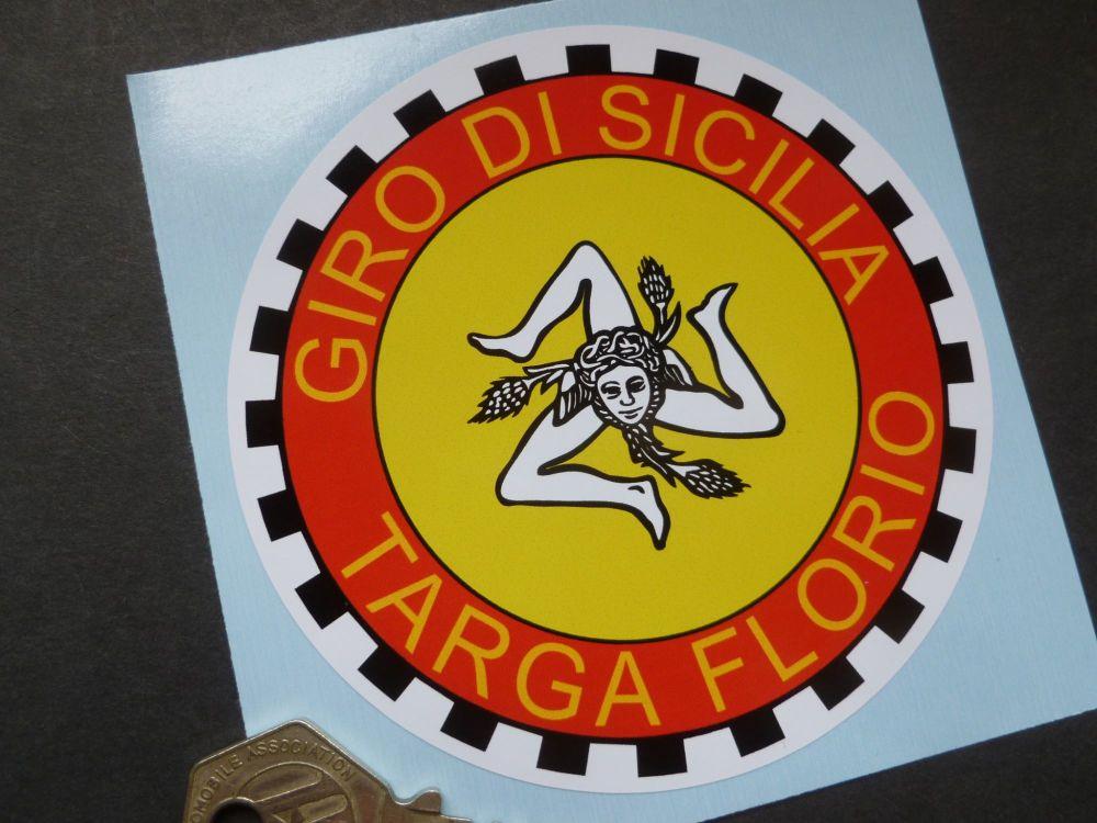 "Targa Florio Giro Di Sicilia Bodywork Sticker. 4""."