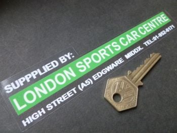 "Longon Sports Car Centre Dealer Window Sticker. 6.5""."