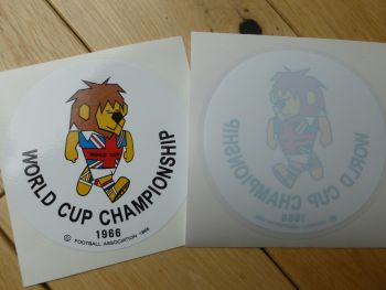 """World Cup Willie 1966 World Cup Championship Circular Body or Window Sticker. 3.75""""."""