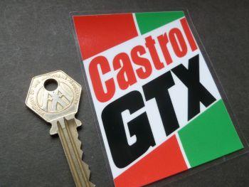 Castrol GTX Classic 70's Motor Oil oblong Window Sticker. 100mm.