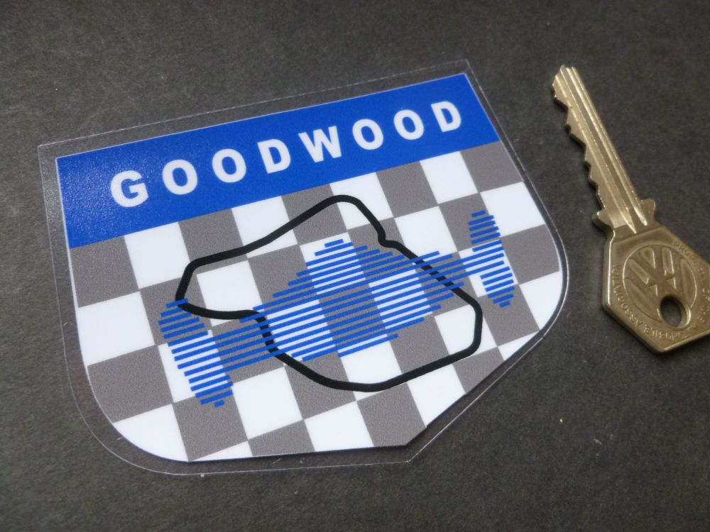"Goodwood Les Leston Style Window Sticker. 3.5""."
