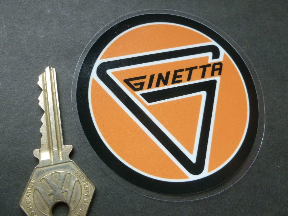 """Ginetta Round Window Sticker. 3.5""""."""