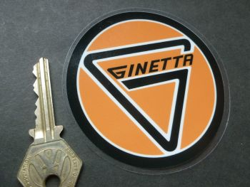 "Ginetta Round Window Sticker. 3.5""."