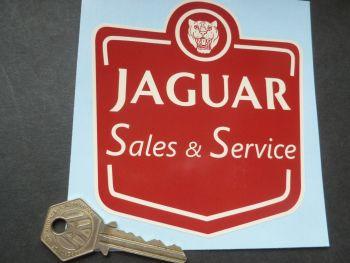 "Jaguar Sales & Service Sticker. 4.25"""