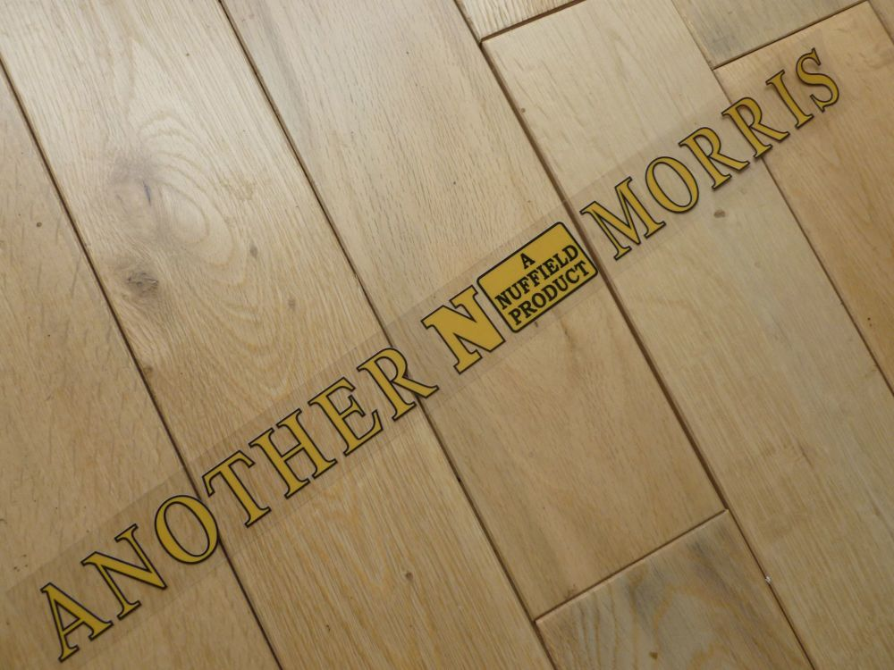 """Another Nuffield Morris Window Sticker. 15.75""""."""