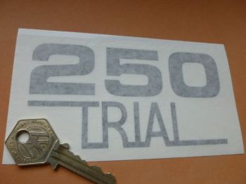 "OSSA '250 Trial'  Cut Vinyl Sidepanel Style Stickers. 4.75"" Pair."