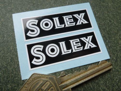 Solex Black & White Oblong Stickers. 4