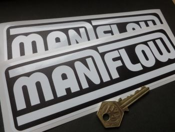 "Maniflow Black & White Stickers. 8"" Pair."