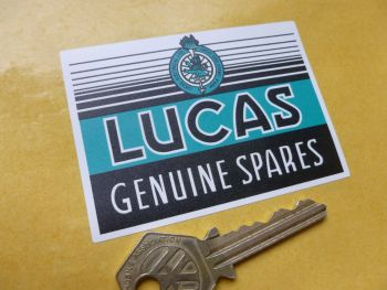Lucas Genuine Spares Sticker. 80mm.