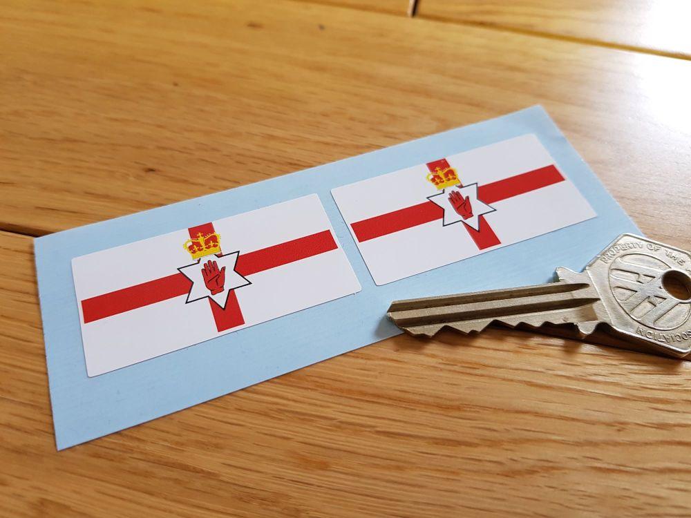 Northern Ireland Ulster Banner Flag Stickers. 2