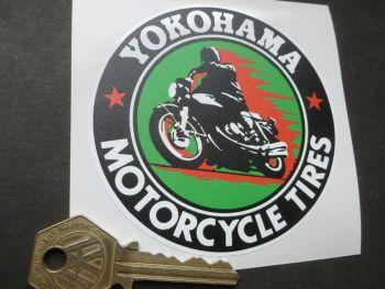 Yokohama Motorcycle Tires Sticker. 90mm.