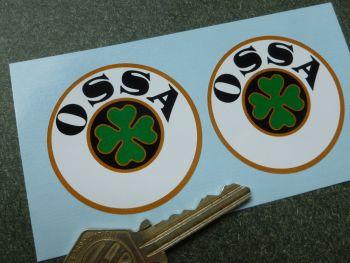 "OSSA Logo Circular Stickers. 2"" Pair."