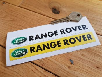 "Land Rover Range Rover Number Plate Dealer Logo Cover Stickers. 5.5"" Pair."