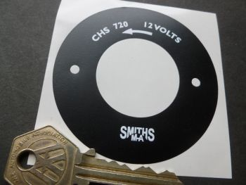 SMITHS CHS 720 classic style Heater Motor endplate Sticker. 70mm