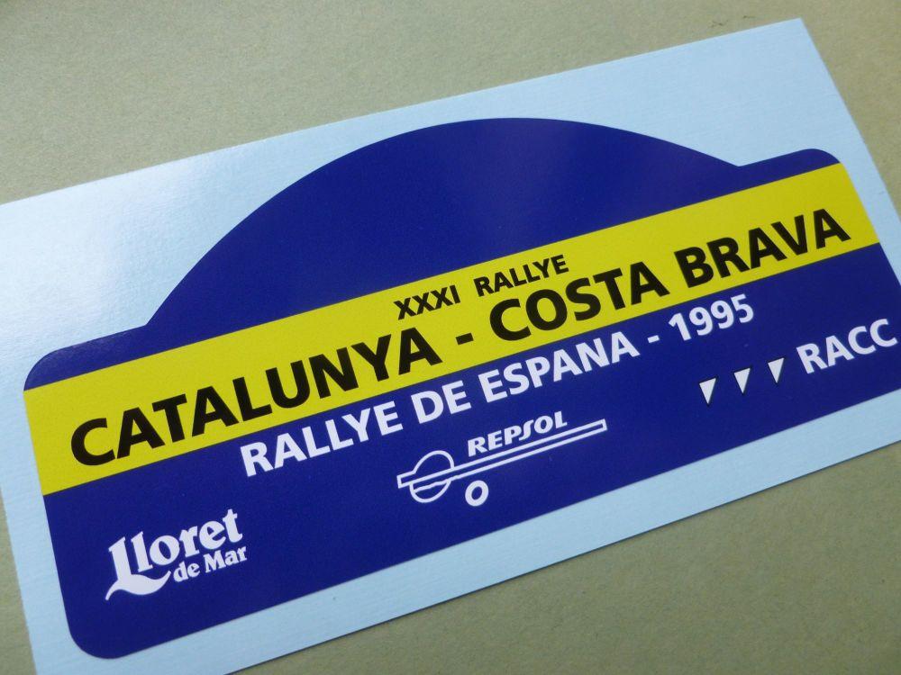 "Rallye De Espana 1995 Rally Plate Style Sticker. 6""."