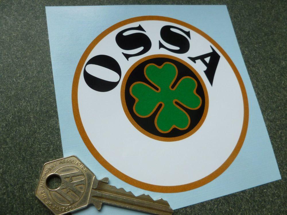 "OSSA Logo Circular Sticker. 4""."