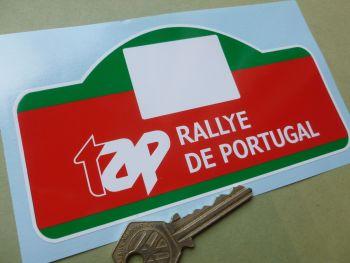 "Rallye De Portugal Rally Plate Style Sticker. 6""."