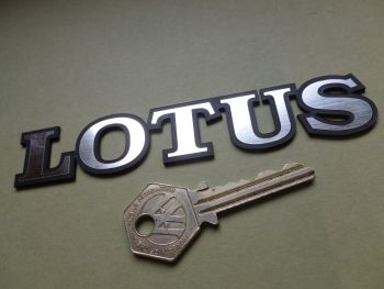 "Lotus Text Laser Cut Self Adhesive Car Badge. 5.25""."