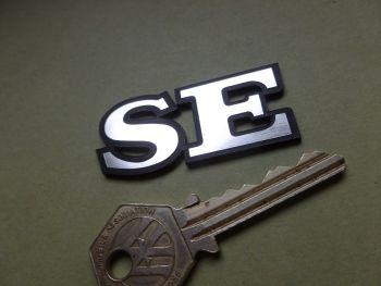 """Lotus 'SE' Text Laser Cut Self Adhesive Car Badge. 2""""."""