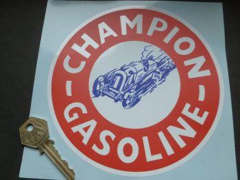 """Champion Gasoline Sticker. 6""""."""