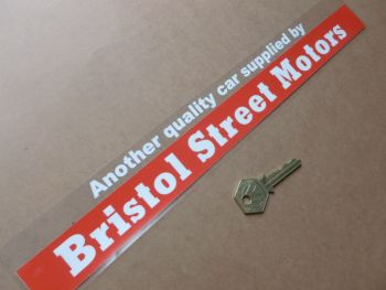 "Bristol Street Motors Dealer Sticker. 13.75""."