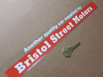 """Bristol Street Motors Dealer Sticker. 13.75""""."""