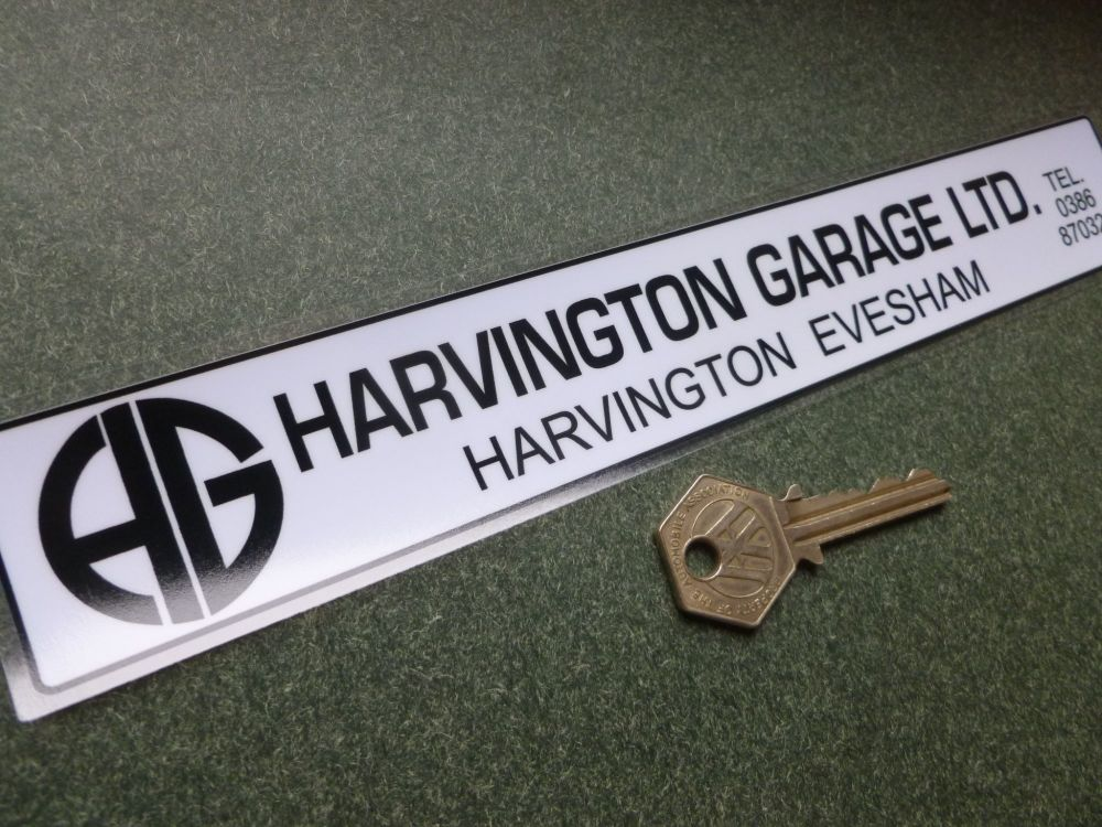 "Harvington Garage Dealer Sticker. 10""."