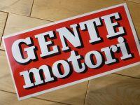Gente Motori Race Car Sponsors Sticker. 11.5