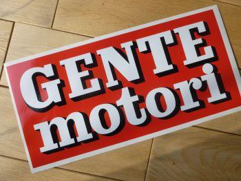 """Gente Motori Race Car Sponsors Sticker. 11.5""""."""