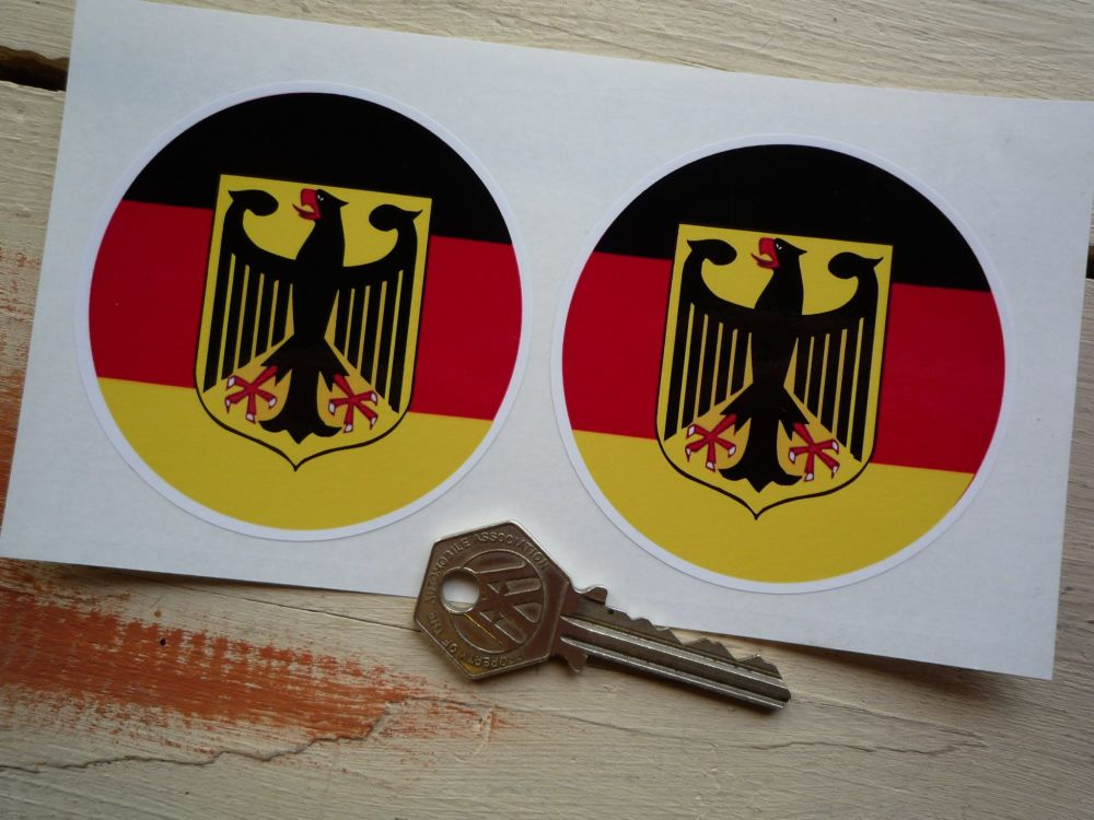 "German Roundel Stickers. 3"" Pair."