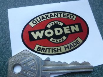 "Woden English Vice Sticker. 1"" or 2.25""."