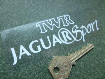 """TWR Jaguar Sport Oblong Window Sticker. 5""""."""