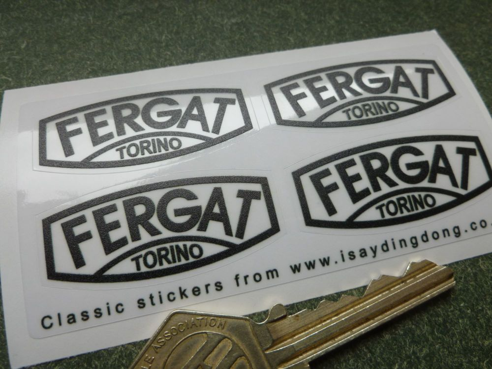 Fergat Torino Black & Clear Steel Wheel Stickers. Set of 4. 44mm.