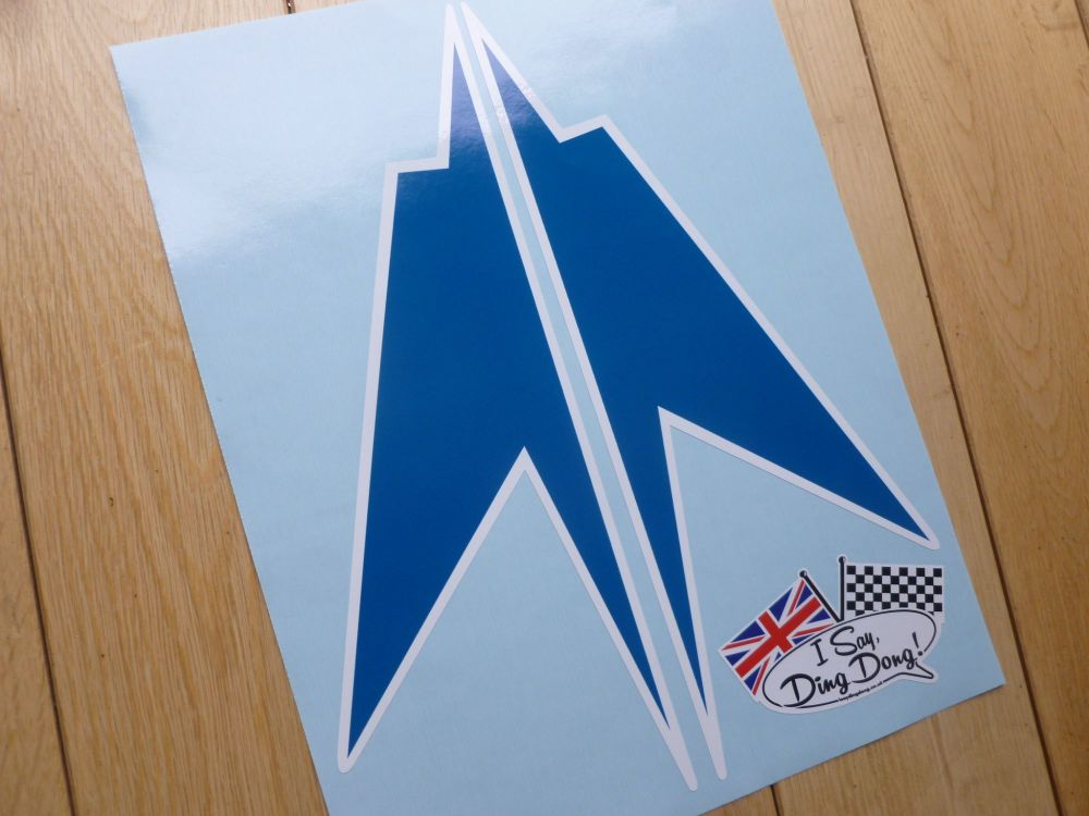 "BOAC 1000km Race Brands Hatch Speedbird Race Car Stickers. 9.5"" Pair."