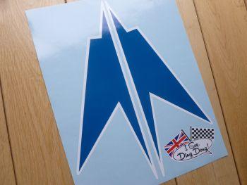 "BOAC 1000km Race Brands Hatch Speedbird Race Car Stickers 9.5"" Pair"