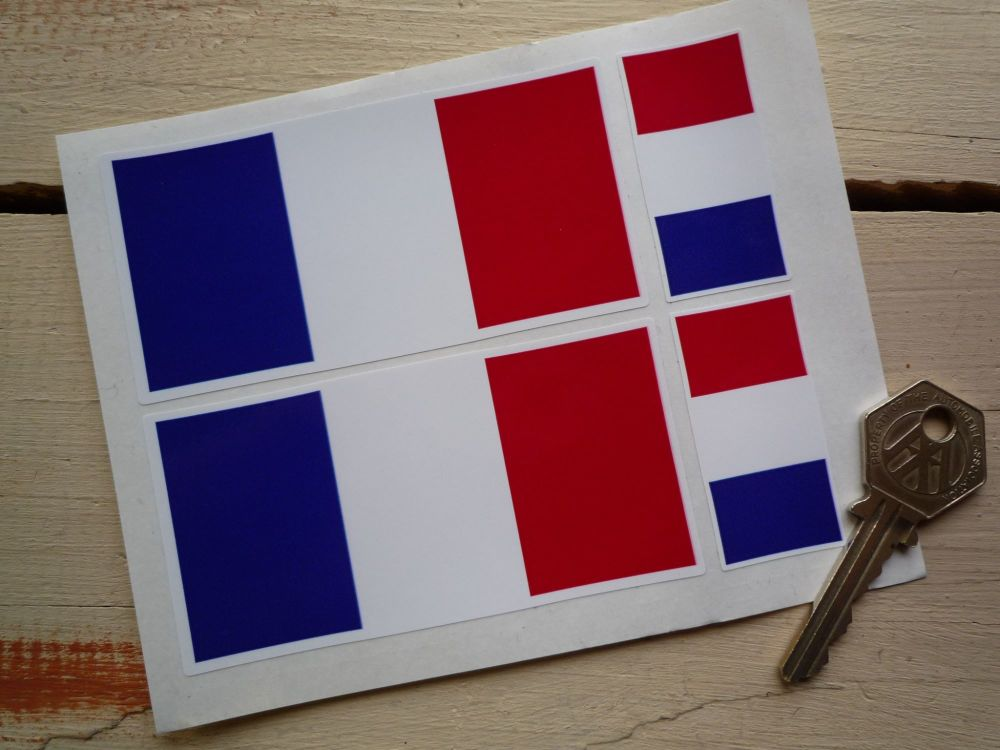 French Flag Stickers. Set of 4.