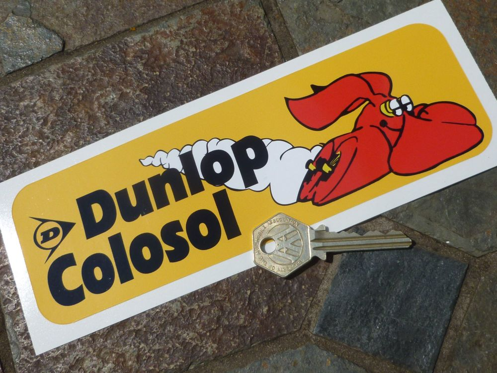 "Dunlop Groundhog Colosol Racing Car Sticker. 8""."