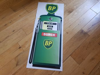 "BP Petrol Pump Style Large Sticker. 24""."