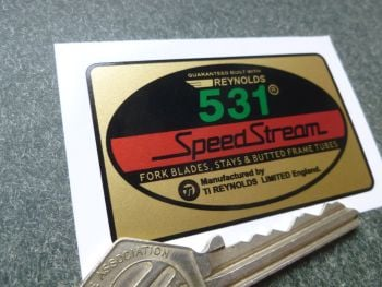 Reynolds 531 Speed Stream 'Guaranteed Built With' Sticker. 65mm.