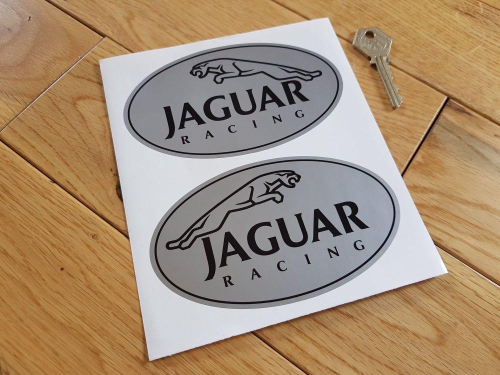Jaguar Racing Leaper Ovals Stickers. 5.25