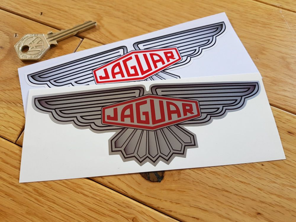 Jaguar Winged Lozenge Stickers. 3