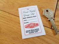 Jaguar 'Next Service Due' Tourist Trophy Service Sticker. 2.5