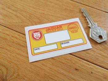 "Jaguar 'Service With' Shell Service Sticker. 3""."