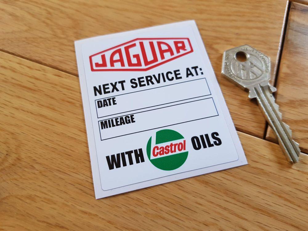 Jaguar 'With Castrol Oils' Service Sticker. 3